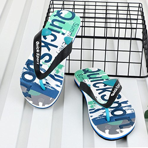 UOMOGO Colorful Infradito Per Donna Pantafole Shoes Casual Antiscivolo Mare Spiaggia Uomo Verde Coppia Infradito TF7Fqdrnx
