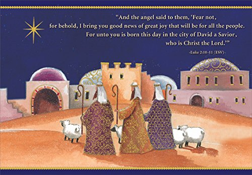 (Journey of the Magi - Designer Greetings Box of 18 Religious Christmas Cards)