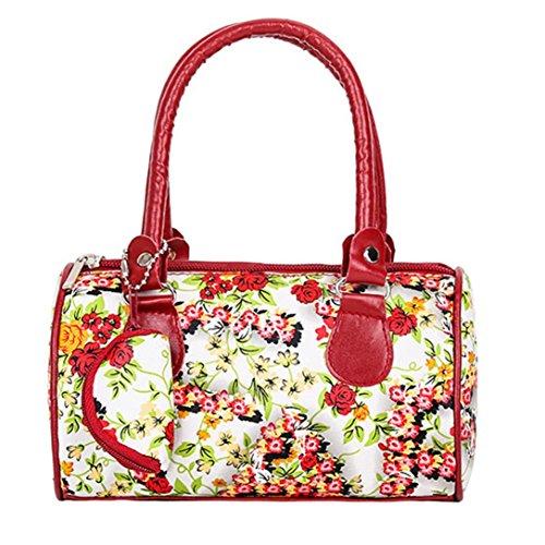 Ladies Handbag Women Coffee Red Tote Women Bag Handbag Shoulder Embroidered Casual Fashion Purse E5z1qU