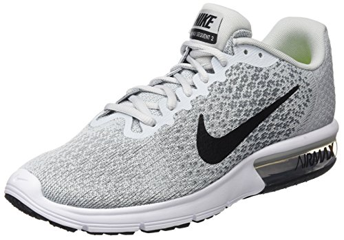 low priced 51b30 42995 Galleon - NIKE Men s Air Max Sequent 2 Running Shoe Pure  Platinum Black Grey Size 11 M US