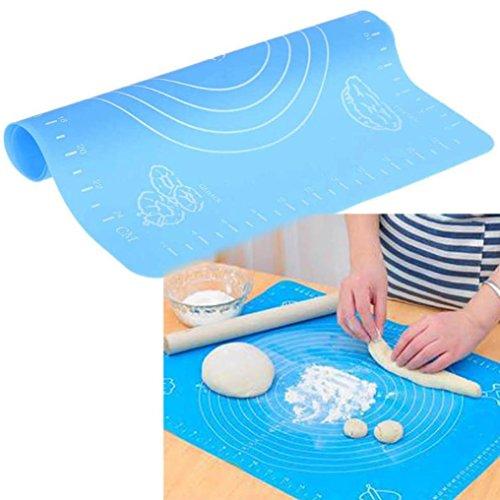 Fondant Rolling Mat, Dough Bread Kneading Fondant Rolling Mat – Non-Stick and (Blue) (Imperial Blue Table Mat)