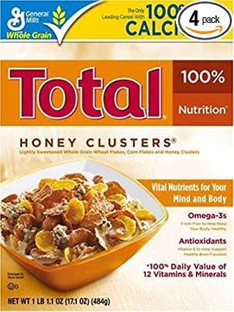 amazon com total honey clusters 17 1 ounce box pack of 4