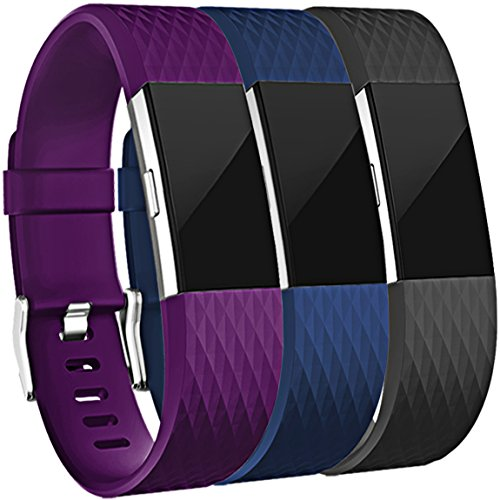 Maledan Replacement Bands  3 Pack  For Fitbit Charge 2  Small