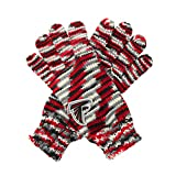 """NFL Atlanta Falcons """"Gloves Off"""" Space Dye Striped Gloves, One Size, Red/Black/Grey"""