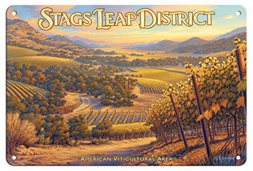 - Pacifica Island Art 8in x 12in Tin Sign - Stags Leap District Wineries - Shafer Vineyards by Kerne Erickson