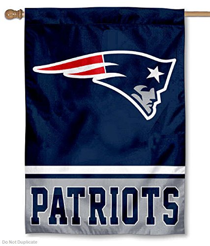 New England Patriots Two Sided House Flag