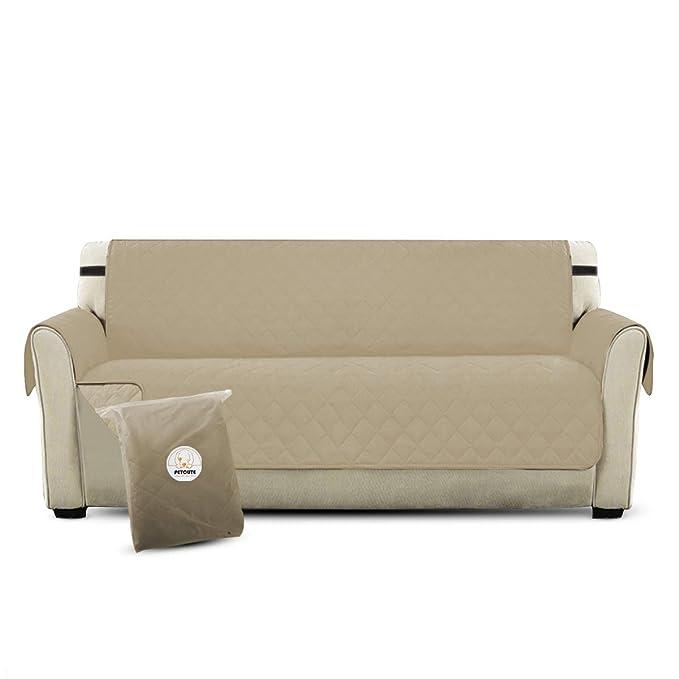 PETCUTE Lujo Cubre para Silla Fundas de Sofa Protector de sofá o Sillón, Dos o Tres Plazas Beige: Amazon.es: Hogar