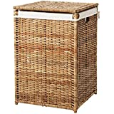 Storage Laundry Basket With Lining - Rattan [k2188]