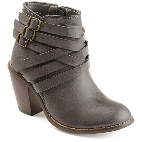 Strap Boots Grey Collection Journee Women's Ankle Multi twFP1qz17S