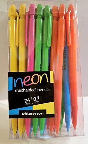 Office Depot 24 Count .7mm Neon Mechanical (Office Depot Mechanical Pencils)