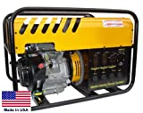 Portable Generator - 6,000 Watt - 120/240V - 11 Hp Honda - Elec...