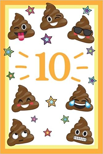 10 Year Old Silly Emoji Happy Birthday Journal Funny 10th Notebook Memory Keepers Emojis Ten For