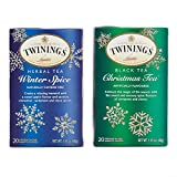 Twining Tea Bags Bundle Set - Christmas-Tea and Winter Spice | Perfect for Holidays and Winter Season | Taste that Soothes the Senses | Natural Ingredients