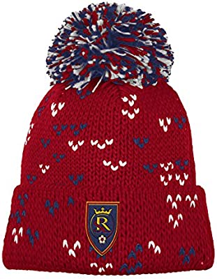 d5cb53ca07a Amazon.com   adidas MLS Real Salt Lake Women s Fan Wear Cuffed Pom Knit  Beanie