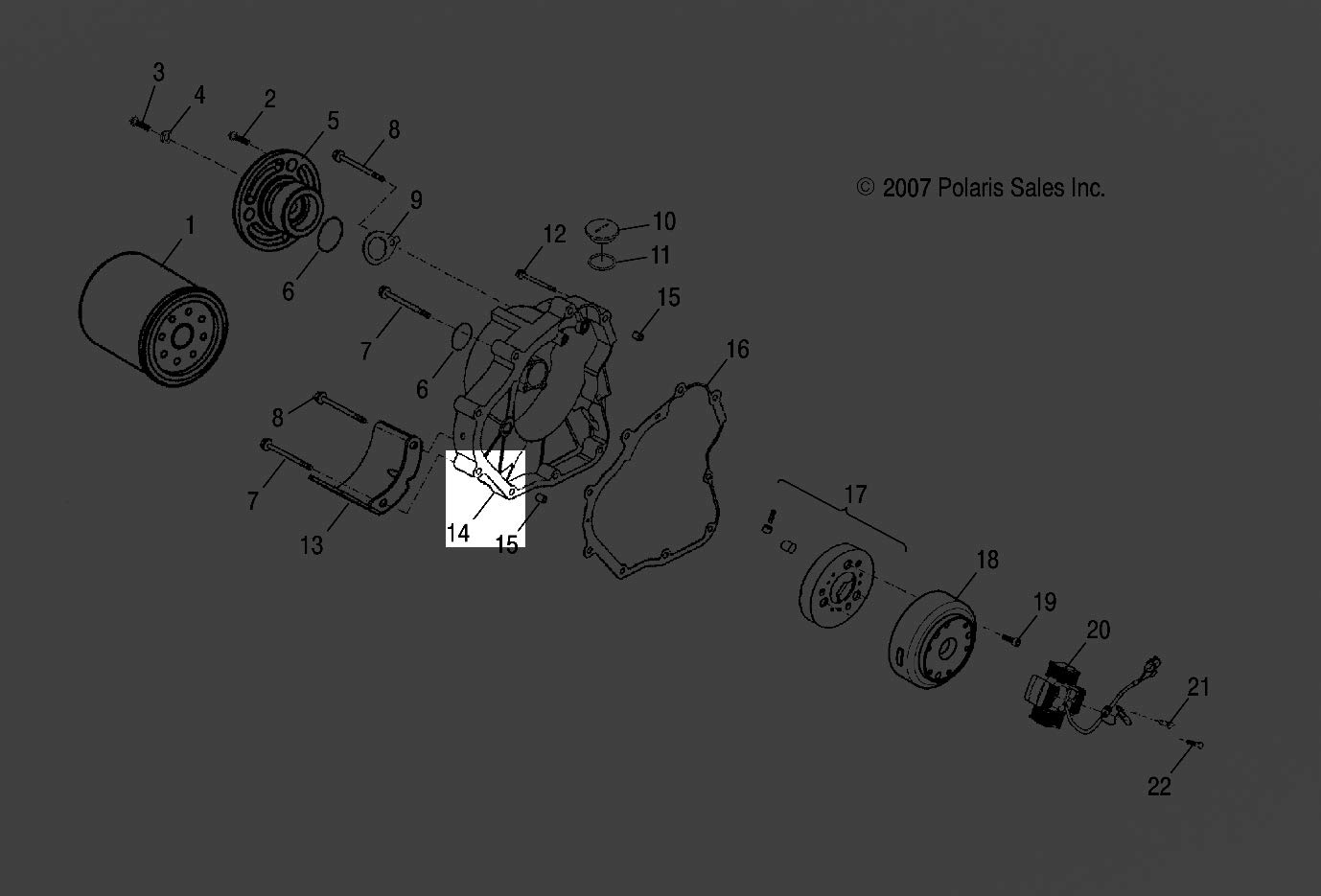 Polaris 2005 2018 Phoenix 200 Quad Cover Crank Case 2013 Wiring Diagram Right 0452446 New Oem Automotive