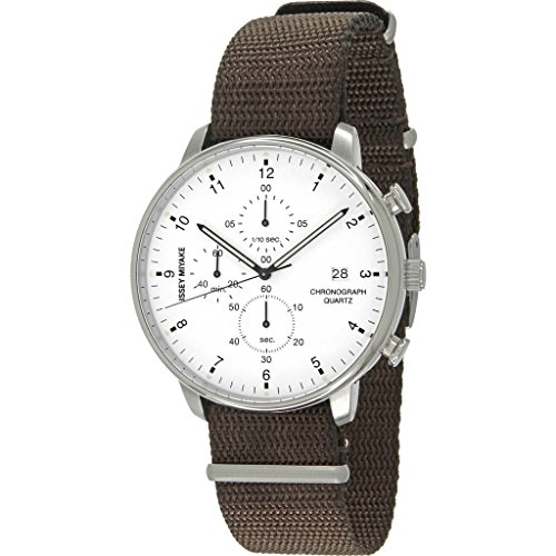 Issey Miyake C White Chronograph Watch | Brown Nylon