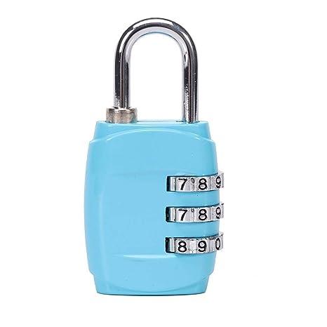 Ogquaton 1 Piezas Conveniente y práctico 3 Combinación de candado numérico con Bloqueo numérico Adecuado para