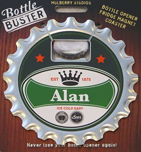 2 Sets of Bottle Opener Fridge Magnet Coaster All in One - Alan