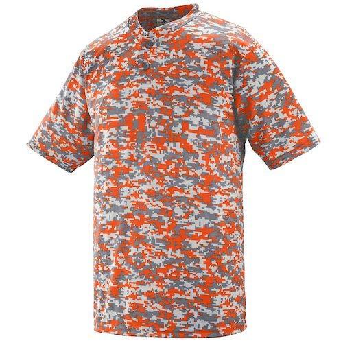 Augusta Sportswear Youth Digi Camo Wicking Two-Button Jersey