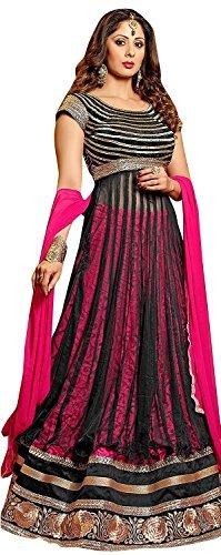 Vibes Women's Fashionable Net Brasso Un-Stitched Party Wear Lehenga Choli Fre…
