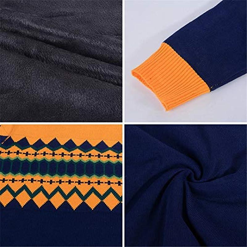 wkd-thvb Herbst Winter Męskie Pullover Soft Pullover Baumwolle Casual O-Neck Sweater Strickwaren E202103 M: Odzież