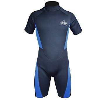 NATYFLY Men Neoprene Shorty Surfing Wetsuit