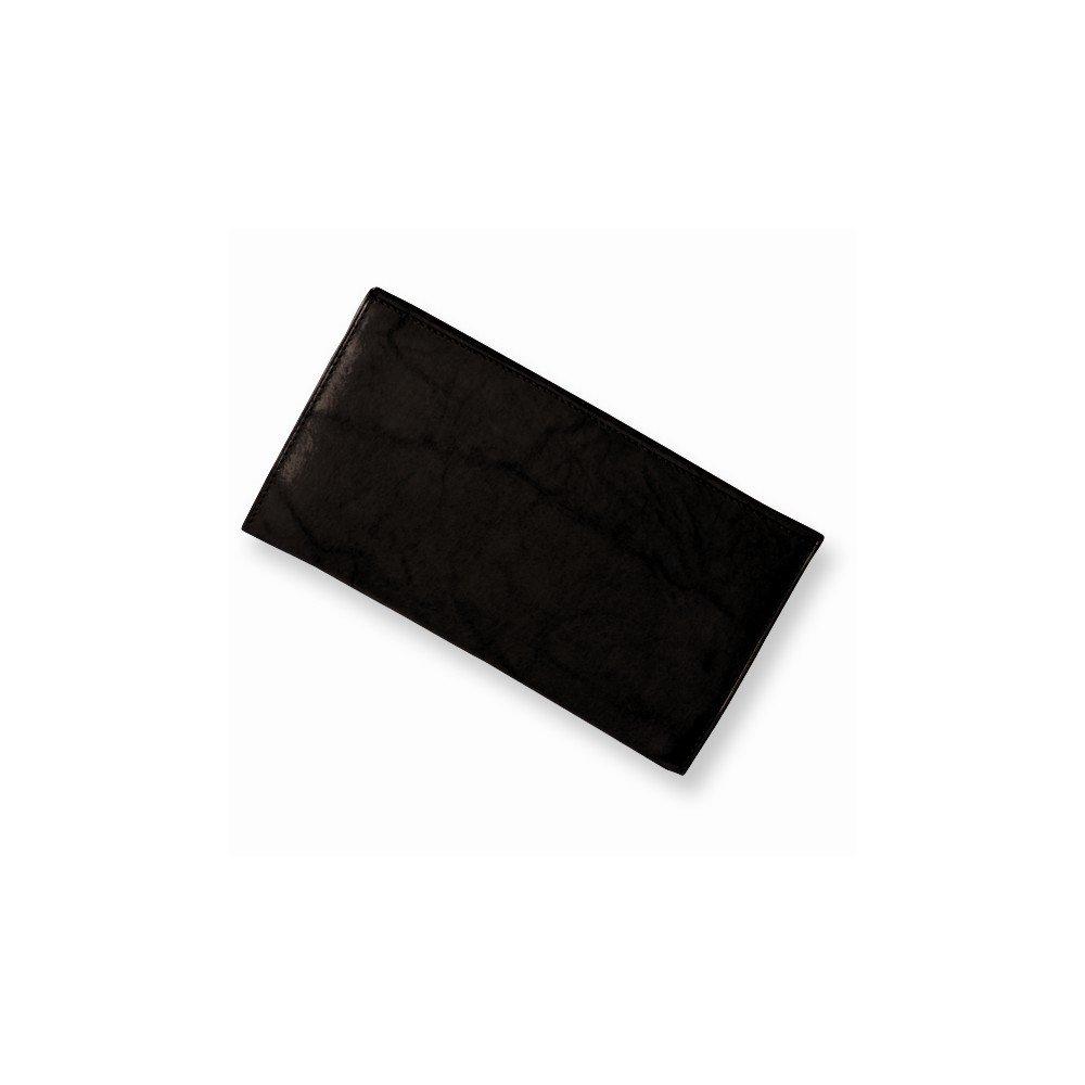 Black Leather Jacket Checkbook Wallet by viStar