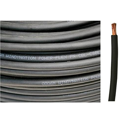 WINDYNATION 8 AWG 8 Gauge Red and Black Welding Lead & Car Battery Copper Cable Wire -- Car, RV, Inverter, Solar, Battery