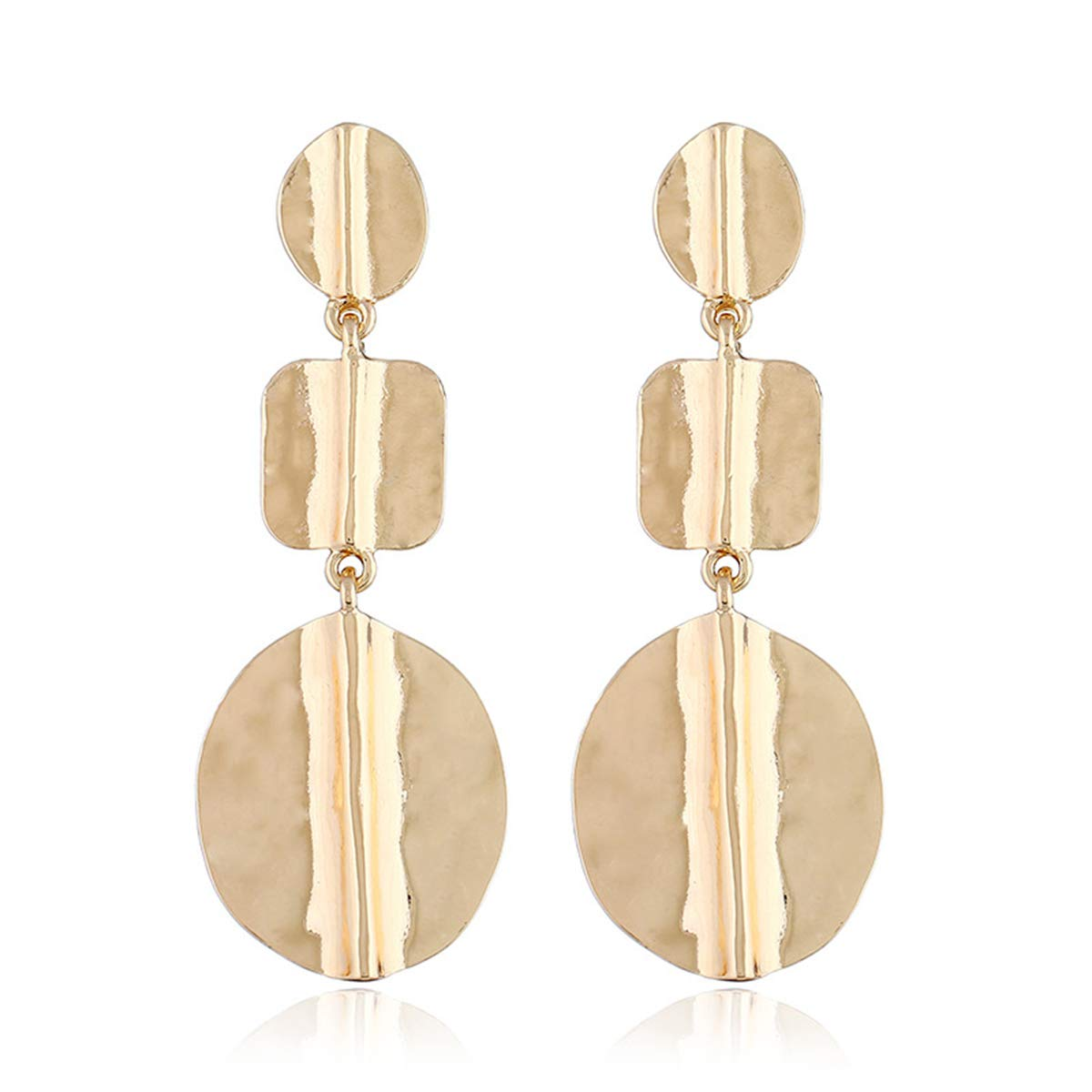 Helloriver Fashion Round Earrings Personality Atmosphere Street Stud Earrings