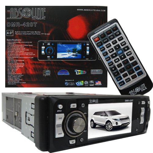 Absolute DMR-420T 4-Inch In-Dash Single Din Receiver