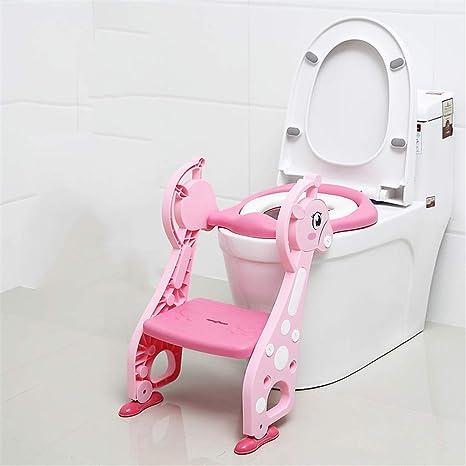 Orinales Infantiles WC De Entrenamiento Escalera Orinal Del Asiento Asiento De Entrenamiento Para Ir Al Baño Con Paso Para Niños Plegable Baño 3 Colores: Amazon.es: Bebé