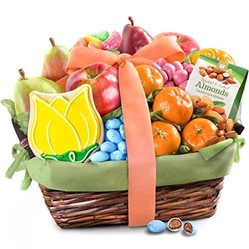 (Spring Fresh Fruit and Gourmet Treats Basket)
