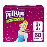 Pull-Ups Night-Time, 2T-3T (18-34 lb.), 68 Ct, Potty Training Pants for Girls, Disposable Potty Training Pants for Toddler Girls (Packaging May Vary)