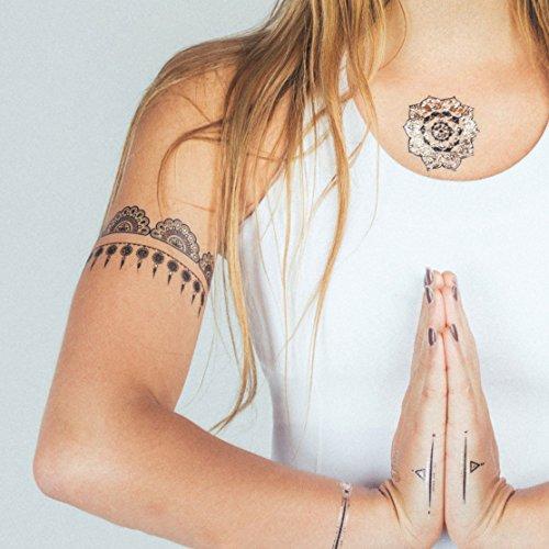 TribeTats Yoga Inspired Premium Metallic Tattoos product image