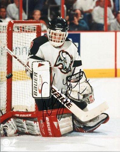 Dominik Hasek Autographed/Signed Buffalo Sabres Kneeling Save 8x10 Photo - Autographed NHL Photos (Photo Nhl Sabres Signed Buffalo)