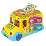 Educational Interactive School Bus Toy with Tons of Flashing Lights, Sounds, Responsive Gears