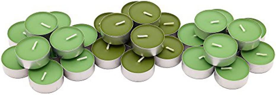 IKEA Sinnlig Scented Tealight, Scent of Apple and Pear, Green Color - 30 Pack