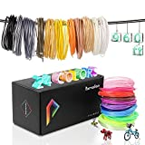 Pxmalion PLA 3D Filament, 1.75mm Printing Refills, 960 Feet, 24 Colors Print Material in 40 Feet, Net Weight 980g, Accuracy +/- 0.03mm, Compatible with Most 3D Printers & 3D Printing Pens