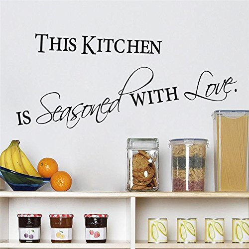 FairyTeller Love Kitchen Quotes Wall Stickers Decorations 8419. Diy Home Decals Vinyl Art Room Mural Posters Adesivos De Paredes 4.5