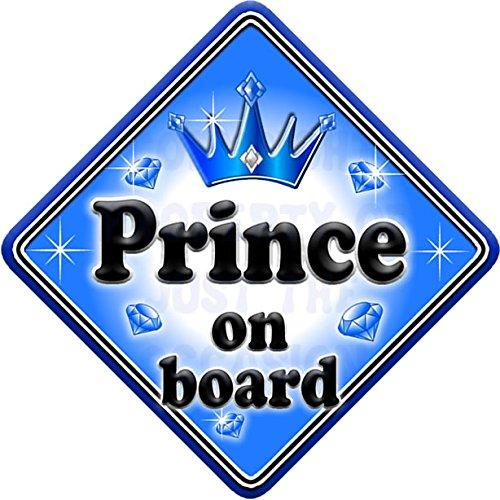 GEM JEWEL PRINCE Baby on Board Car Window Sign JTO