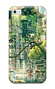 For Iphone Case, High Quality Whimsical Town For Iphone 5c Cover Cases