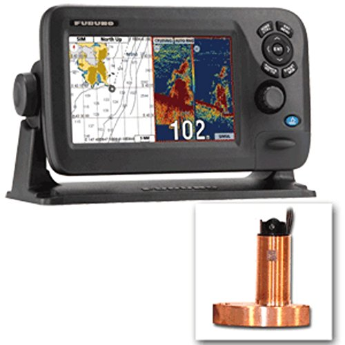 Combo Color Fishfinder (Furuno GP1870F 7 Color GPS Chartplotter/Fishfinder Combo w/525STID-MSD 600W Bronze Thru-Hull Transducer Marine , Boating Equipment)