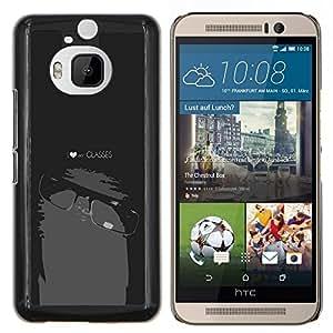 Stuss Case / Funda Carcasa protectora - Divertido del empollón del friki Mi Gafas - HTC One M9Plus M9+ M9 Plus