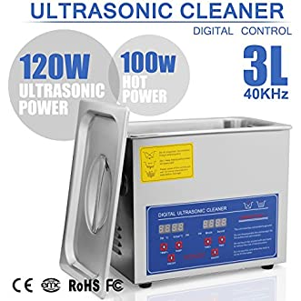 HappyBuy Ultrasonic Cleaner 3L Large Commercial Ultrasonic Cleaner Stainless Steel Ultrasonic Cleaner With Heater And Digital Control Ultrasonic Cleaner Solution Heated With Jewelry