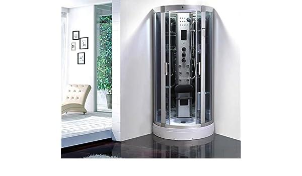 Cabina de ducha con hidromasaje Hammam 80 x 80 x 215: Amazon.es: Hogar