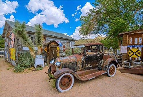 Vintage Car Clubs - AOFOTO 8x6ft Route 66 Rest Stop Backdrop Vintage Car Old General Store Photography Background Arizona Man Adult Artistic Portrait US Travel Photo Shoot Studio Props Video Drop Vinyl Wallpaper Drape