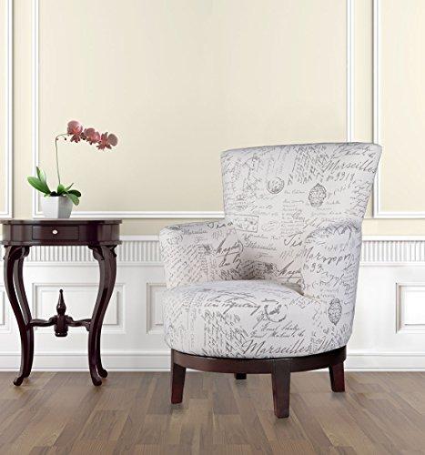 NHI Express Lillian Swivel Graffiti Accent Chair (1 Pack), Multicolor