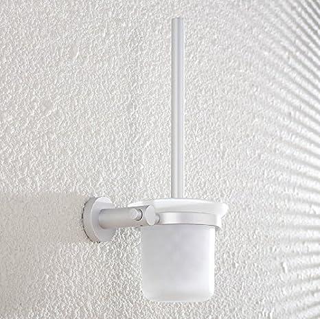 SYDLJ Wc kit de cepillo de aluminio espacio cubo portavasos baño Acc.: Amazon.es: Hogar