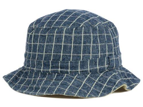 rivate Label Plaid Denim Checkered Reversible Bucket Hat (Multi Plaid Reversible Hat)
