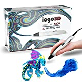 3D Pen - iogo3D Sketcher X800 Professional 3D Printer Pen with OLED Display and Temperature & Speed Adjustment